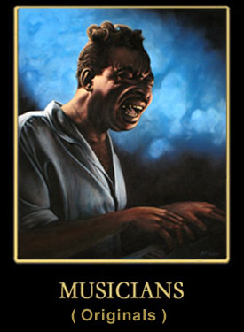 Blues Musicians Portraits in Oil by Earl Klatzel